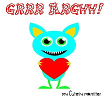 My Cutesy Monster Grrr Argh T Shirt and Hoodie 08 Photographic Print