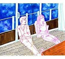 Sketch 17 ... the world is changing and we are oblivious Photographic Print