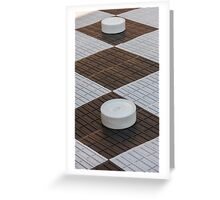 chess outdoors Greeting Card