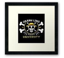 Grand Line University Framed Print