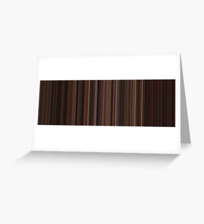 Moviebarcode: The Godfather: Part III (1990) [Simplified Colors] Greeting Card