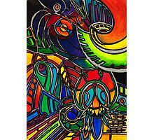 Colorful shapes - a joyful illustration/watercolour Photographic Print
