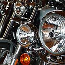 All the Pretty Bikes All in a Row by DEB CAMERON