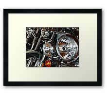 All the Pretty Bikes All in a Row Framed Print
