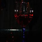 Glass of Red Wine by Doty