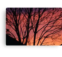 RED SUNSET  SKY Canvas Print