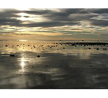 Depth of silver sky and sea Photographic Print