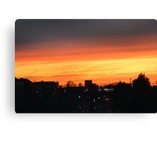 ORANGE SKY AT NIGHT  Canvas Print