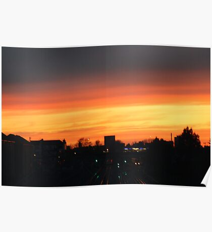 ORANGE SKY AT NIGHT  Poster