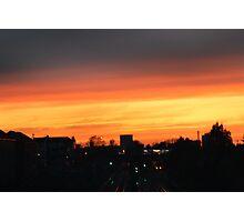 ORANGE SKY AT NIGHT  Photographic Print