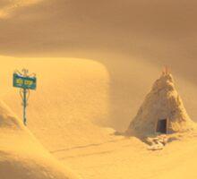 Desert hut Sticker