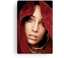 Girl in the Red Cape Canvas Print