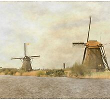 Vintage style Kinderdijk by Stephanie Owen