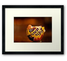 How do you eat yours? Framed Print