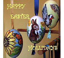 HAPPY EASTER HOLLIDAY Photographic Print