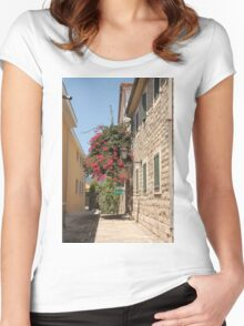 The streets of Herceg Novi Women's Fitted Scoop T-Shirt