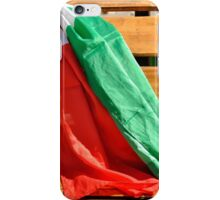 italian flags in the wind iPhone Case/Skin