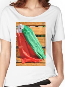 italian flags in the wind Women's Relaxed Fit T-Shirt