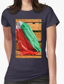 italian flags in the wind Womens Fitted T-Shirt