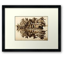 In the Backwaters Framed Print
