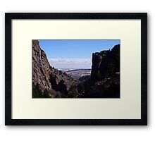 Fowler Trail view of the plains Framed Print