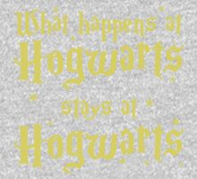 What happens at horwarts stays at hogwart Kids Tee