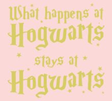 What happens at horwarts stays at hogwart One Piece - Long Sleeve