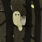 Little Ghost & Owl by LinetteNo