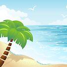 Cartoon Beach by Anastasiia Kucherenko
