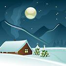 Winter Landscape by Anastasiia Kucherenko