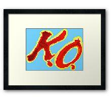 KO Kevin Owens Framed Print