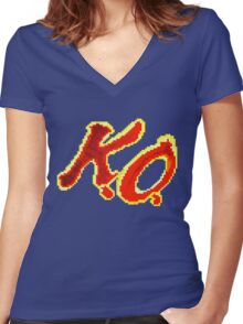 KO Kevin Owens Women's Fitted V-Neck T-Shirt