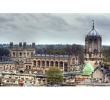 Christ Church Oxford From The Carfax Tower Photographic Print