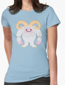 White toothy yeti Womens Fitted T-Shirt