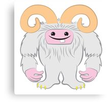 White toothy yeti Canvas Print