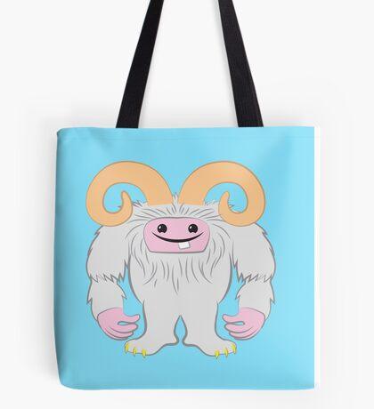 White toothy yeti Tote Bag