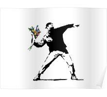 Flower Bomb Banksy Poster