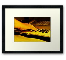 Hitting The Right Note Framed Print