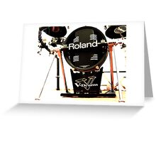 Roland V Base Drum Greeting Card