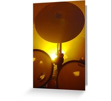 Yellow Light And Symbol Greeting Card