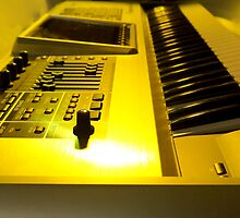Roland Keyboard With Yellow Light by AmandaJanePhoto
