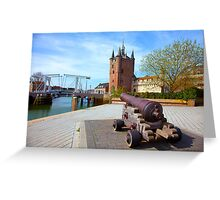 Zierikzee under Red Bubble Fire Greeting Card