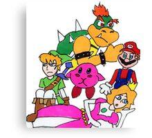 Nintendo Breakfast Club Canvas Print