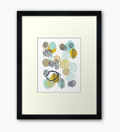 Jamm - abstract art painting brushstrokes modern minimal paint trendy colors hipster gender neutral  Framed Print
