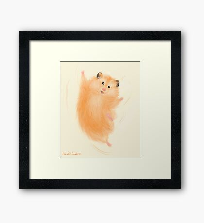 Joyful hamster Framed Print