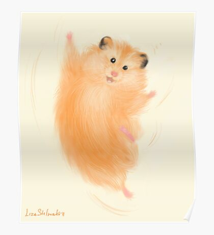 Joyful hamster Poster