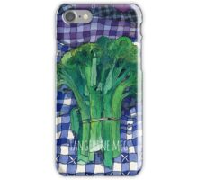 Broccoli and Gingham iPhone Case/Skin