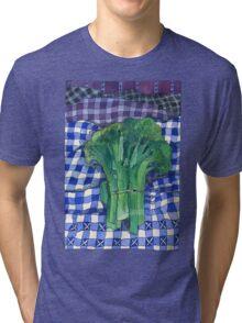 Broccoli and Gingham Tri-blend T-Shirt