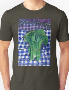 Broccoli and Gingham Unisex T-Shirt