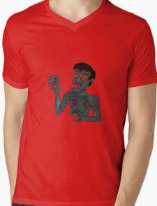 Zombie Bruce Lee Mens V-Neck T-Shirt